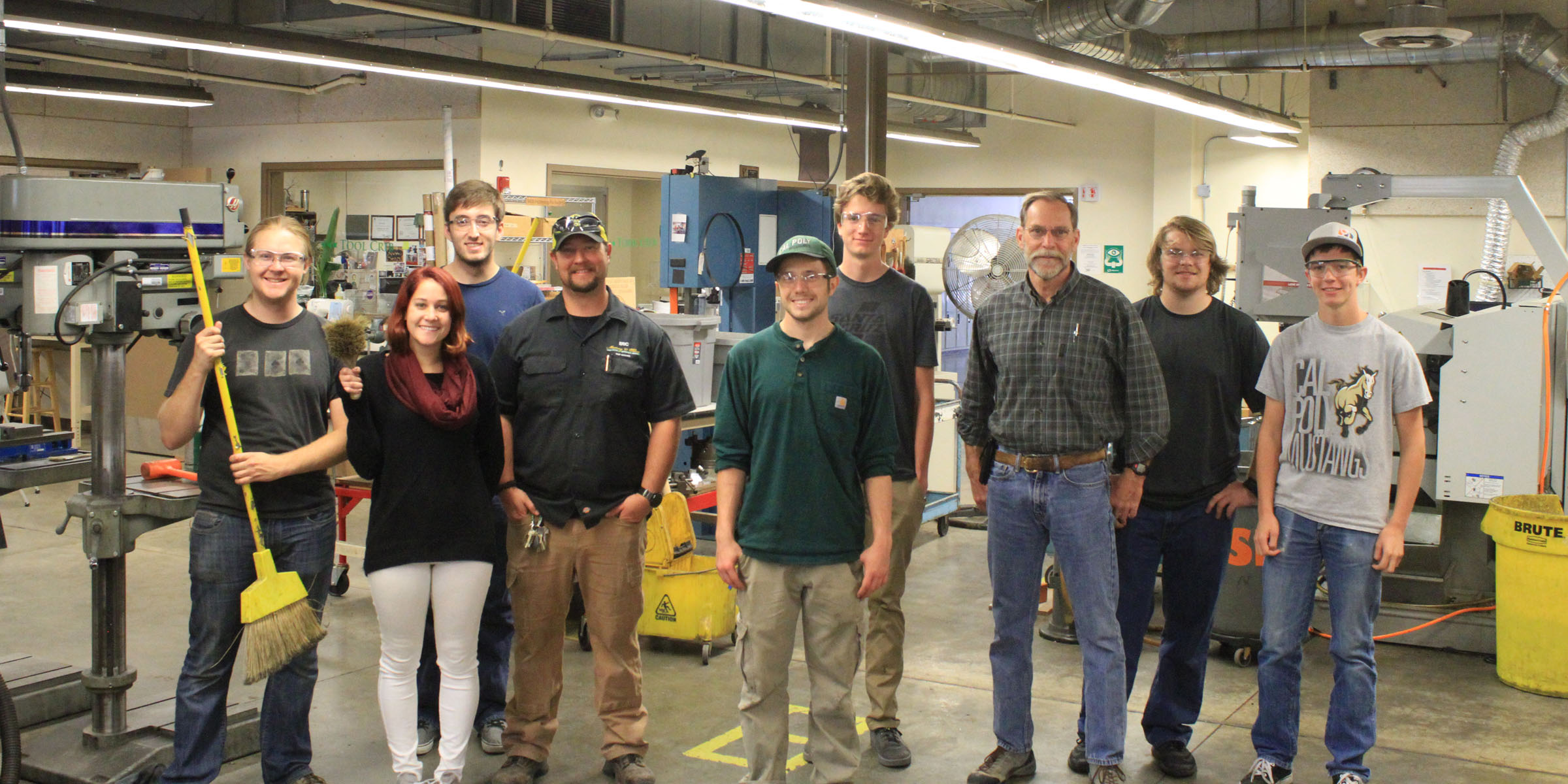Shop technicians group photo