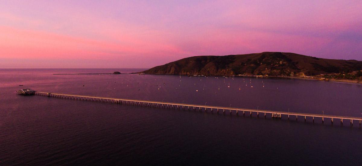 Sun set at Cal Poly research pier