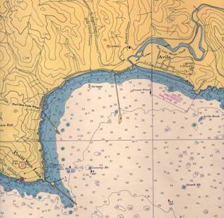 A 1955 map of San Luis Obispo Bay