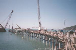 Unocal Pier being rebuilt