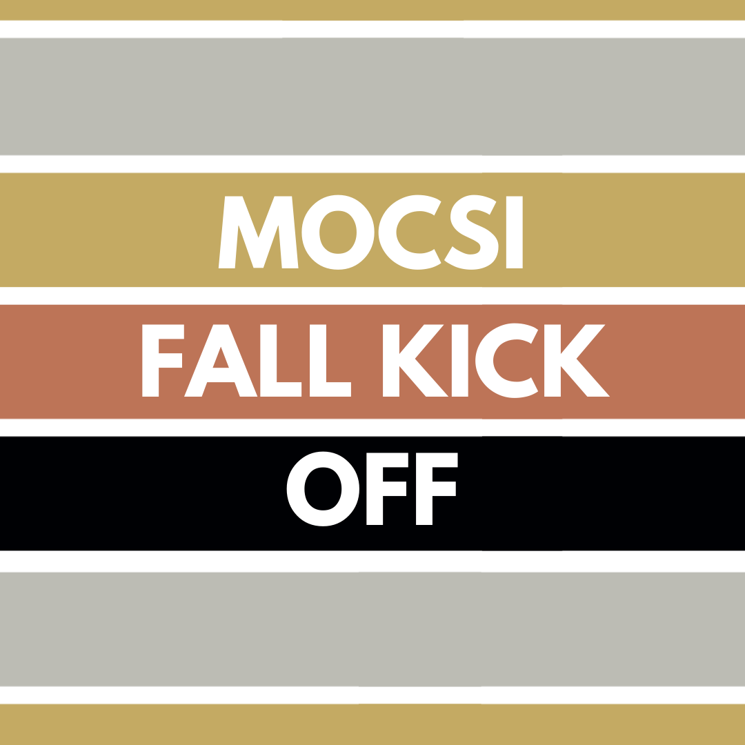 """Striped background with the words """"Men of Color Success Initiative Fall Kick Off"""" centered"""