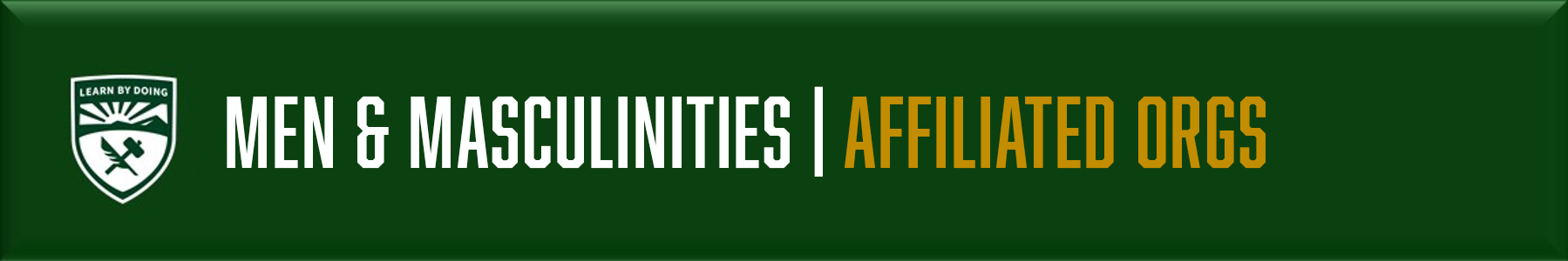 Men & Masculinities - Affiliated Orgs