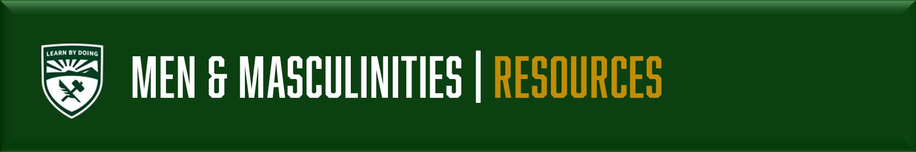 Men & Masculinities - Resources
