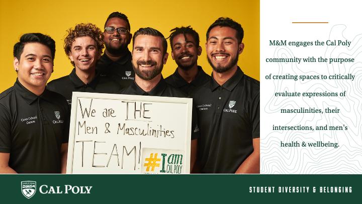 Six men and masculinities program staff smiling