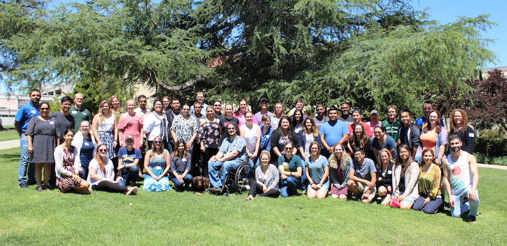 future and current mathematics teachers in the mathematics workshops are in a huge group picture