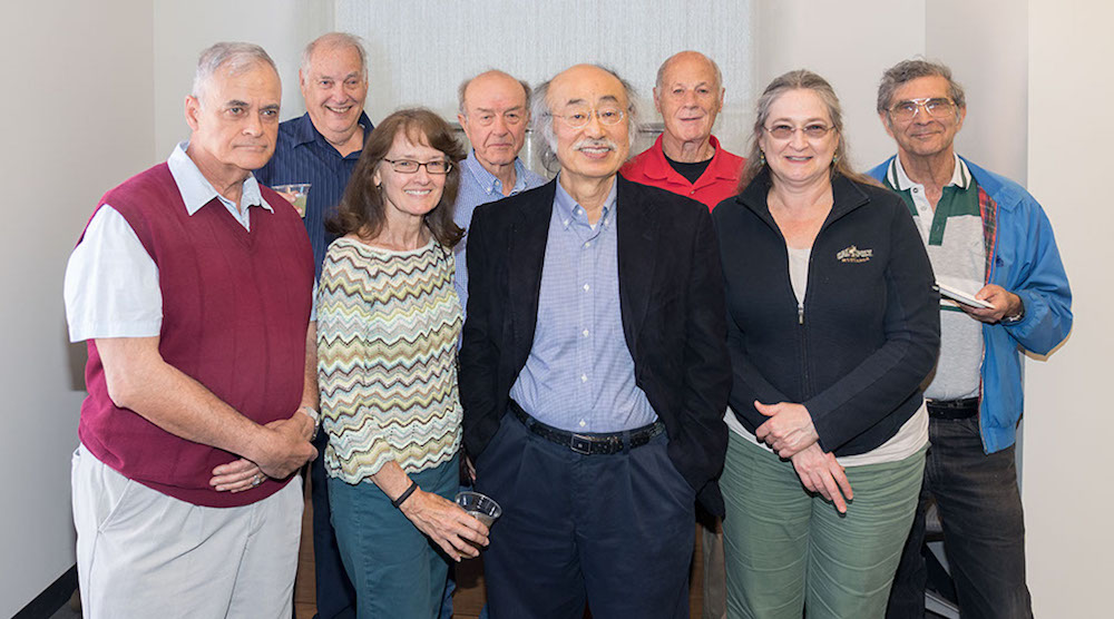 Goro Kato and Todor Todorov with other retired faculty and staff