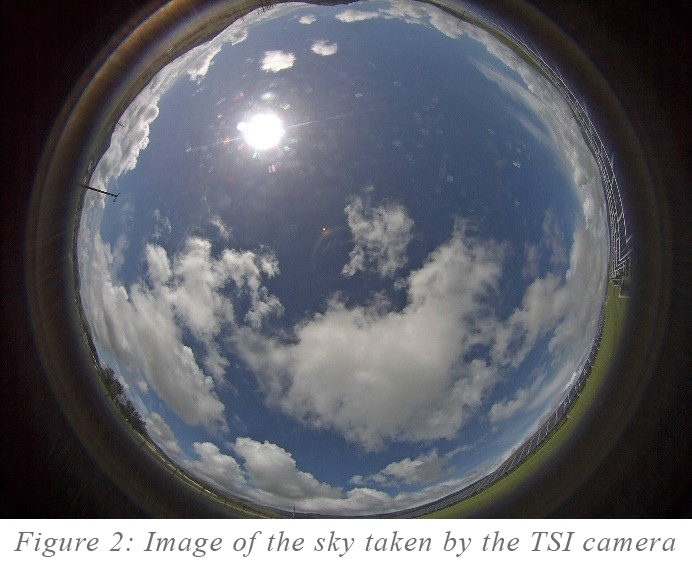 Image of the sky taken by the TSI camera