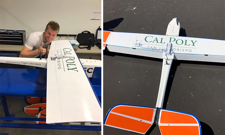 Max Emerick with PressureWing installed on the AFL's Altavian NOVA aircraft.