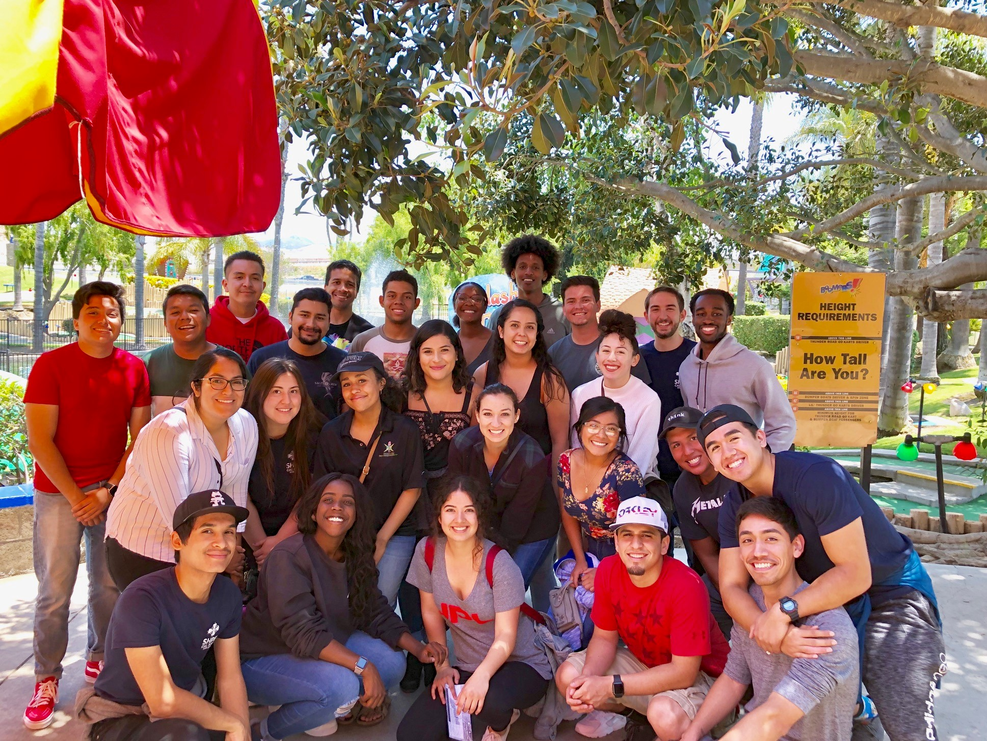 Group of students smiling at annual MEP leadership retreat