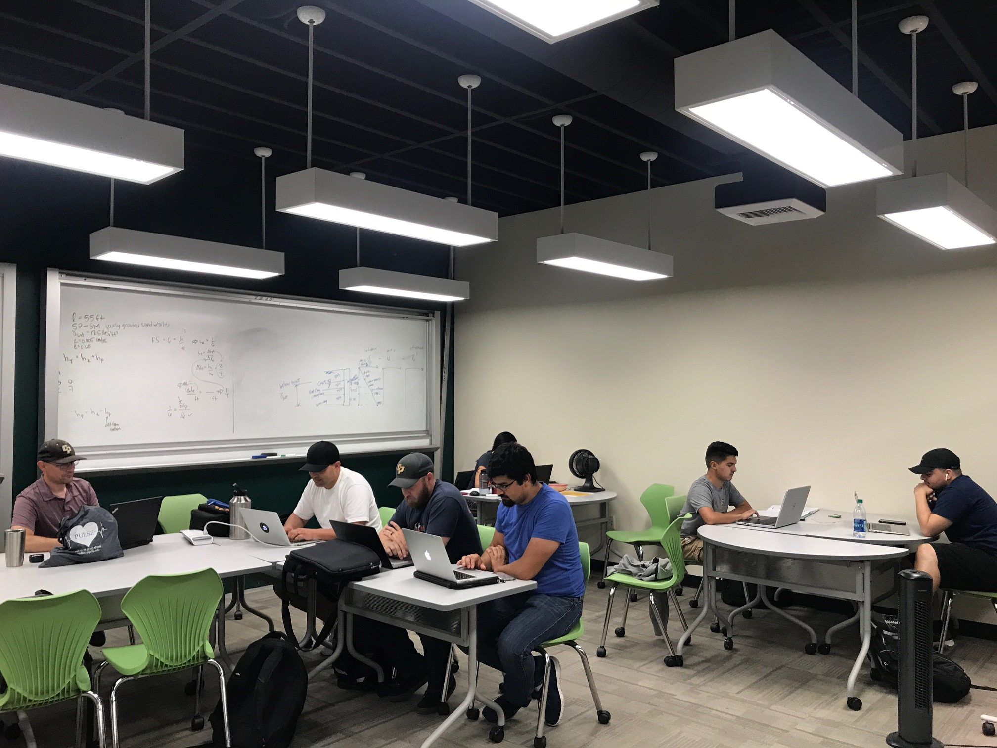 Student studying in MEP study room