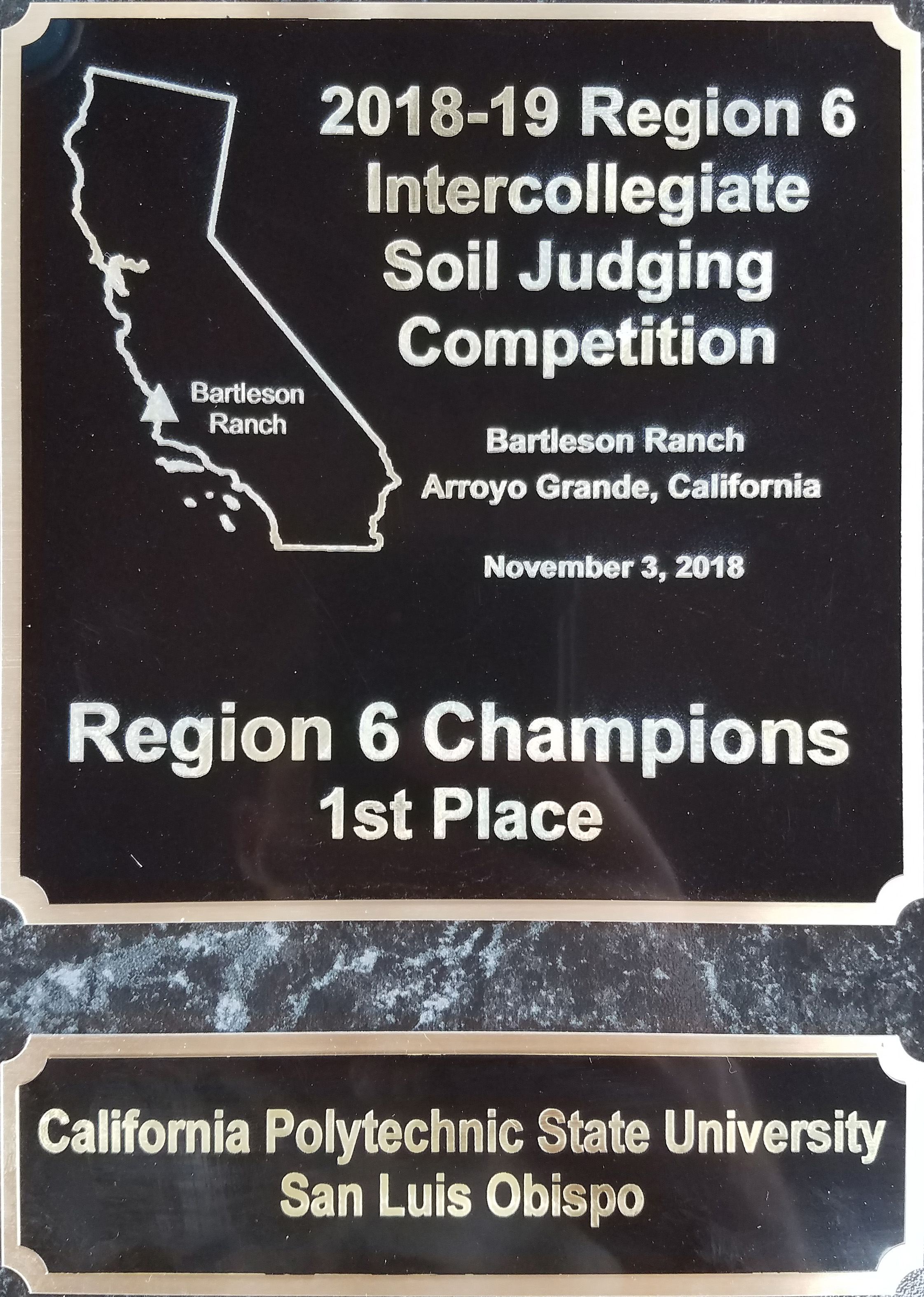 First Place Soil Judging