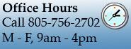 Call 805-756-2702, 9-4