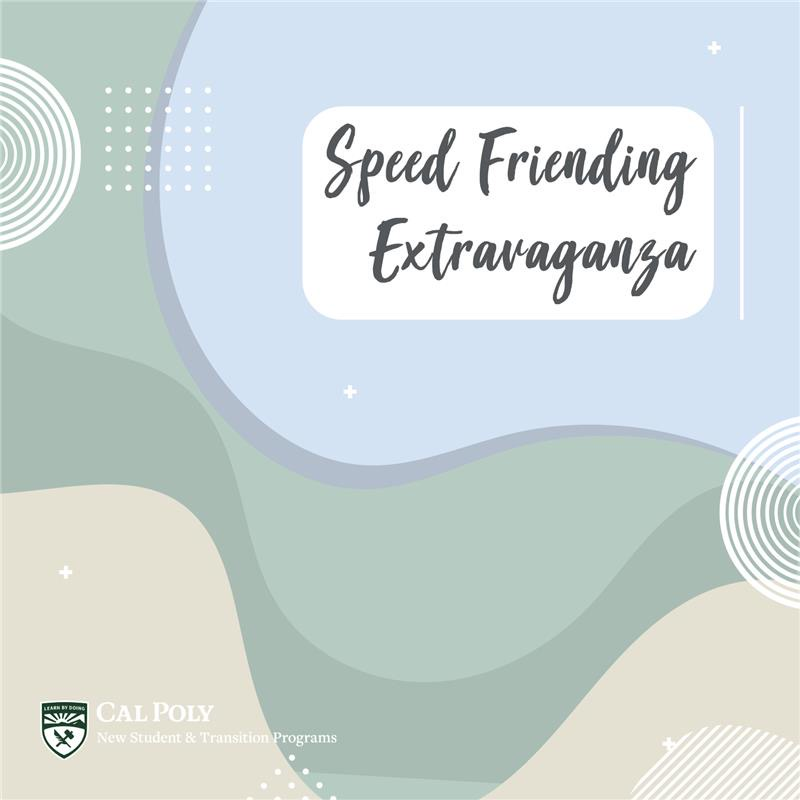 Speed Friending Extravaganza