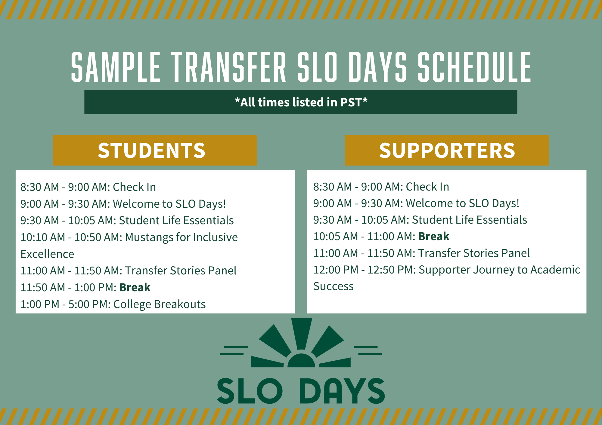 SLO Days Staff running check-in for new students