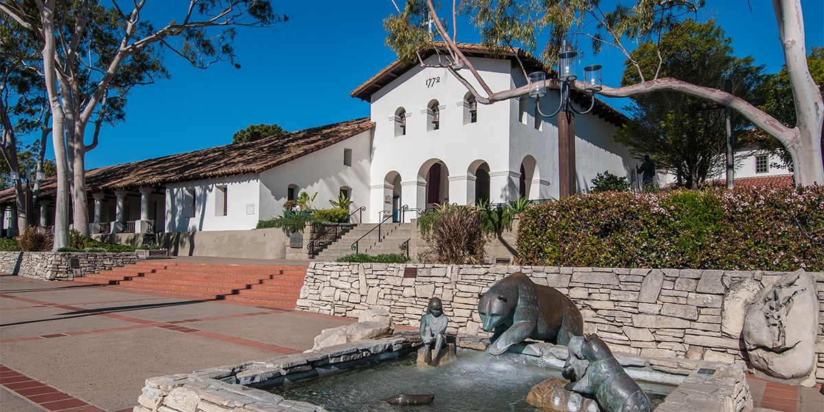 Portrait of the Mission in Downtown San Luis Obispo