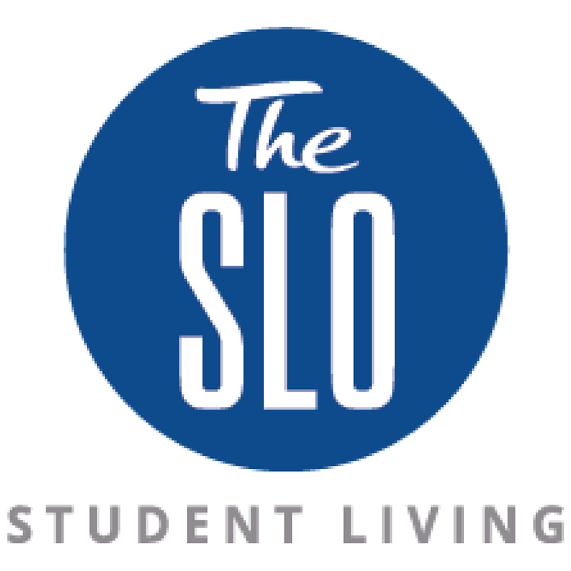 The SLO Student Living Logo