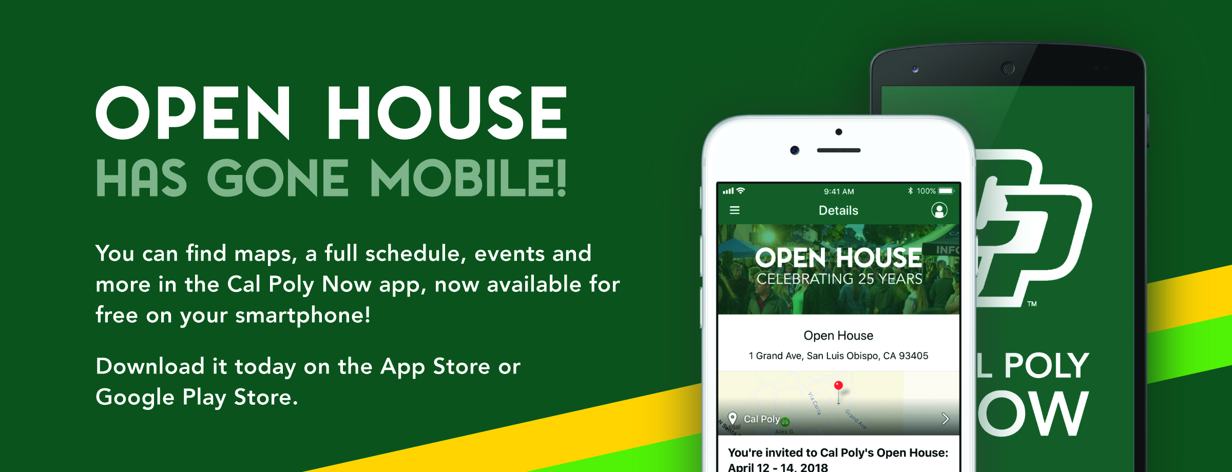 Click here to download Cal Poly Now, free on the App Store and Google Play Store!