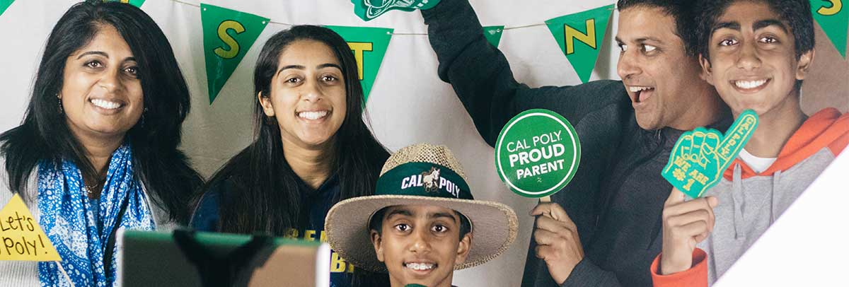 Portrait of a Cal Poly Proud Family at Open House
