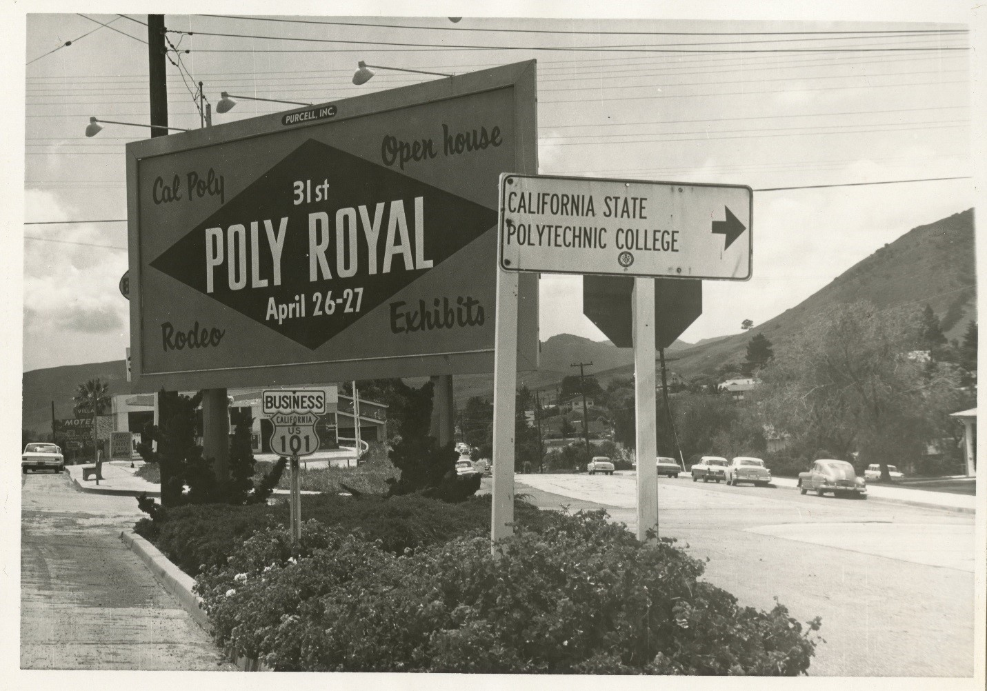 Cal Poly Open House - Poly Royal road sign