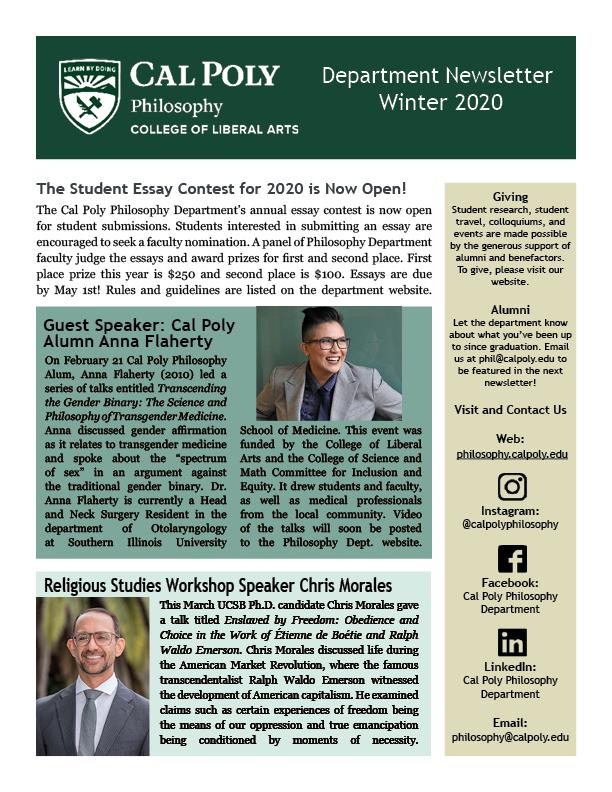 Winter 2020 Newsletter