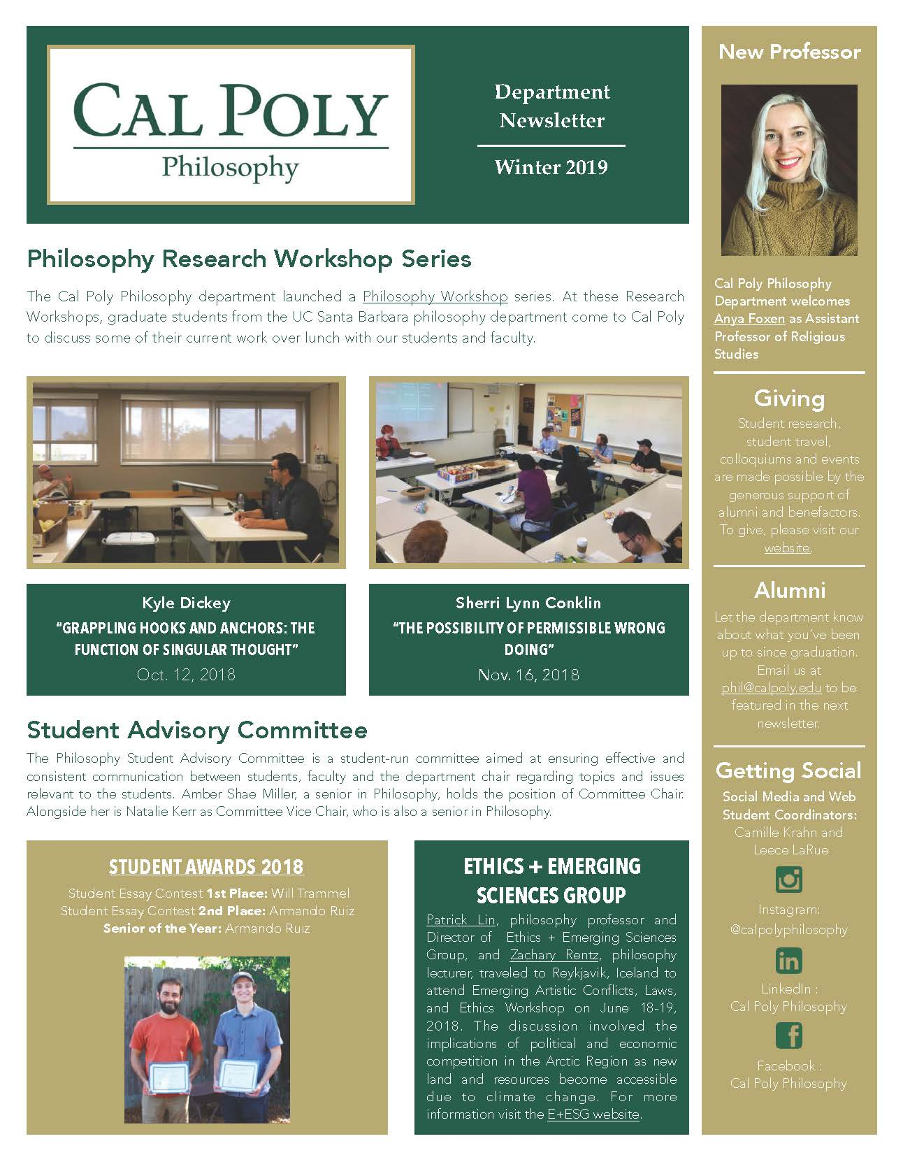 winter 2019 newsletter page 1