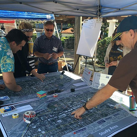Dr. Vicente del Rio working with the public to imagine downtown SLO