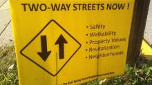 Advocacy Banner for a Two-Way Street Conversion