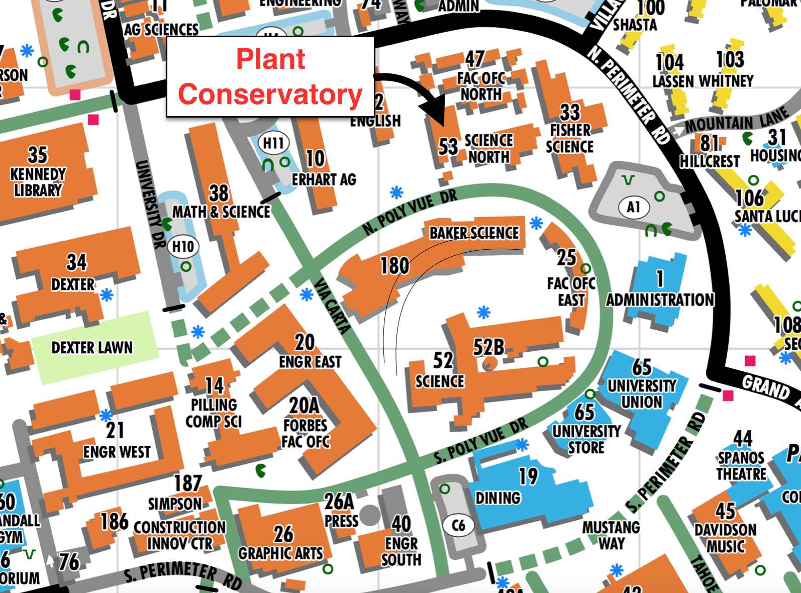 Cal Poly Campus Map on