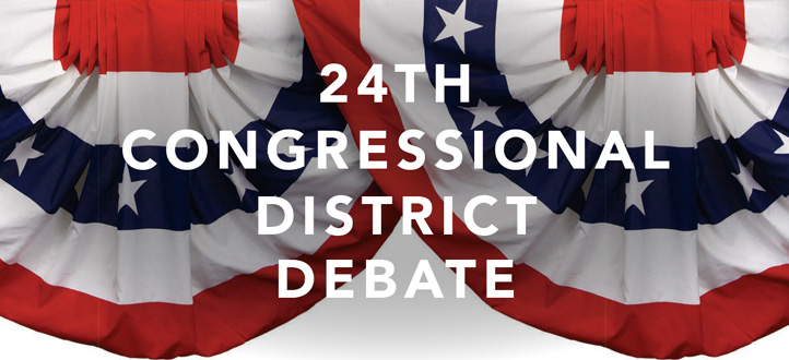 24th Congressional District Debate flyer