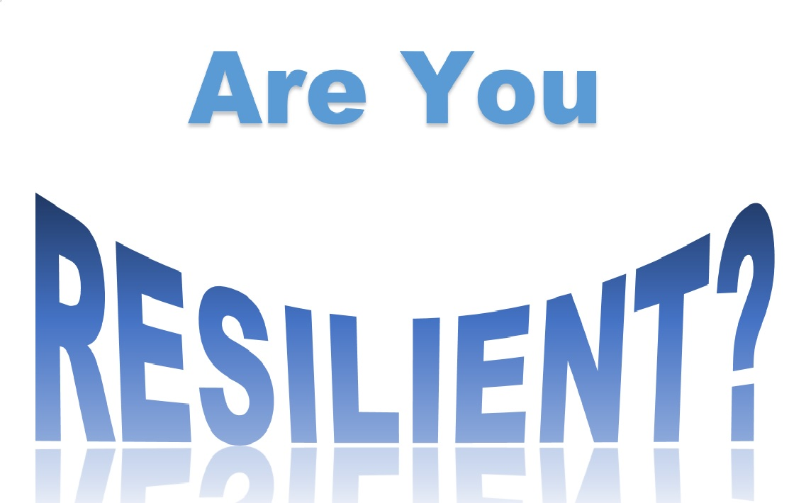 Logo of the words Are You Resilient?