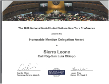 Model UN Studens in New York and LA