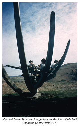 Original Blade Structure. Image from the Paul and Verla Neil Resource Center, circa 1970