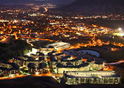 Night time view of the Cal Poly campus
