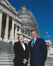 Courntney Jacobson with U.S. Representative Scott Peters