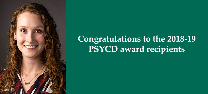 PSYCD Award Winners 2018-19