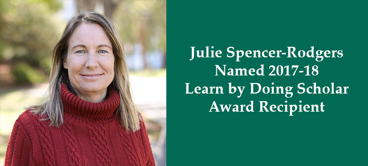 Julie Spencer-Rodgers Awarded Learn by Doing Scholar Award