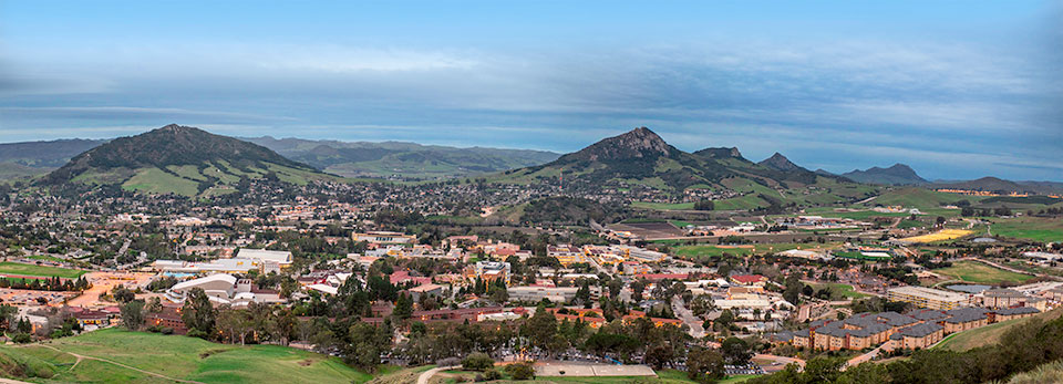 Cal Poly from hills