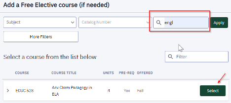 For this solution, only enter information in the search bar on the far right of the page.