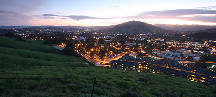 cal poly at sunset