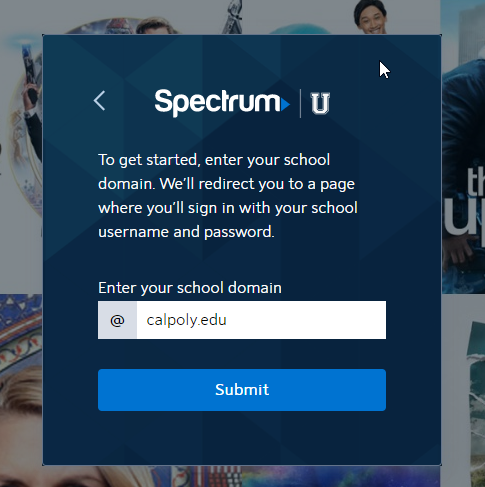 SpectrumU Login window