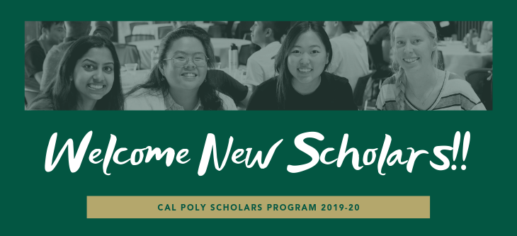 welcome new scholars poster