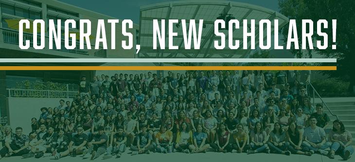 Congrats, New Scholars!