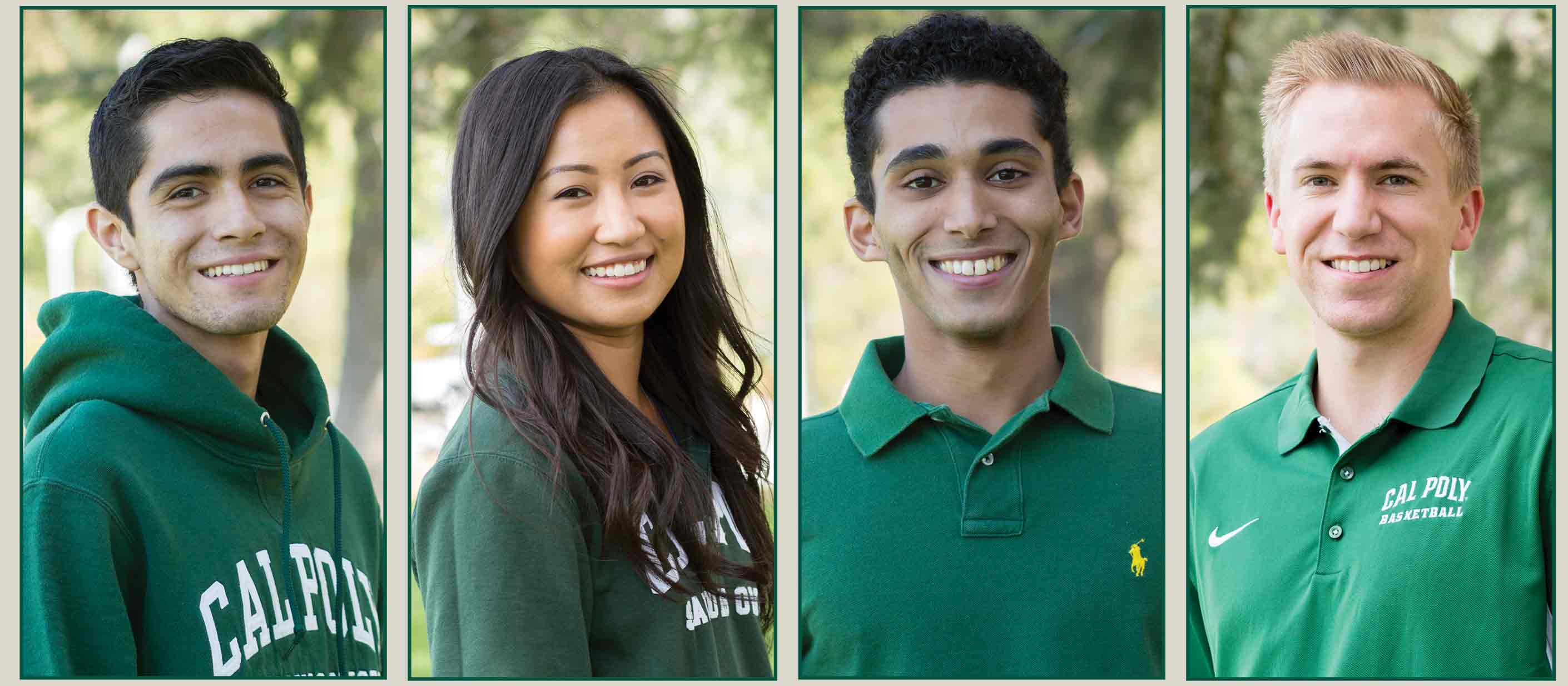 4 Cal Poly Scholars students