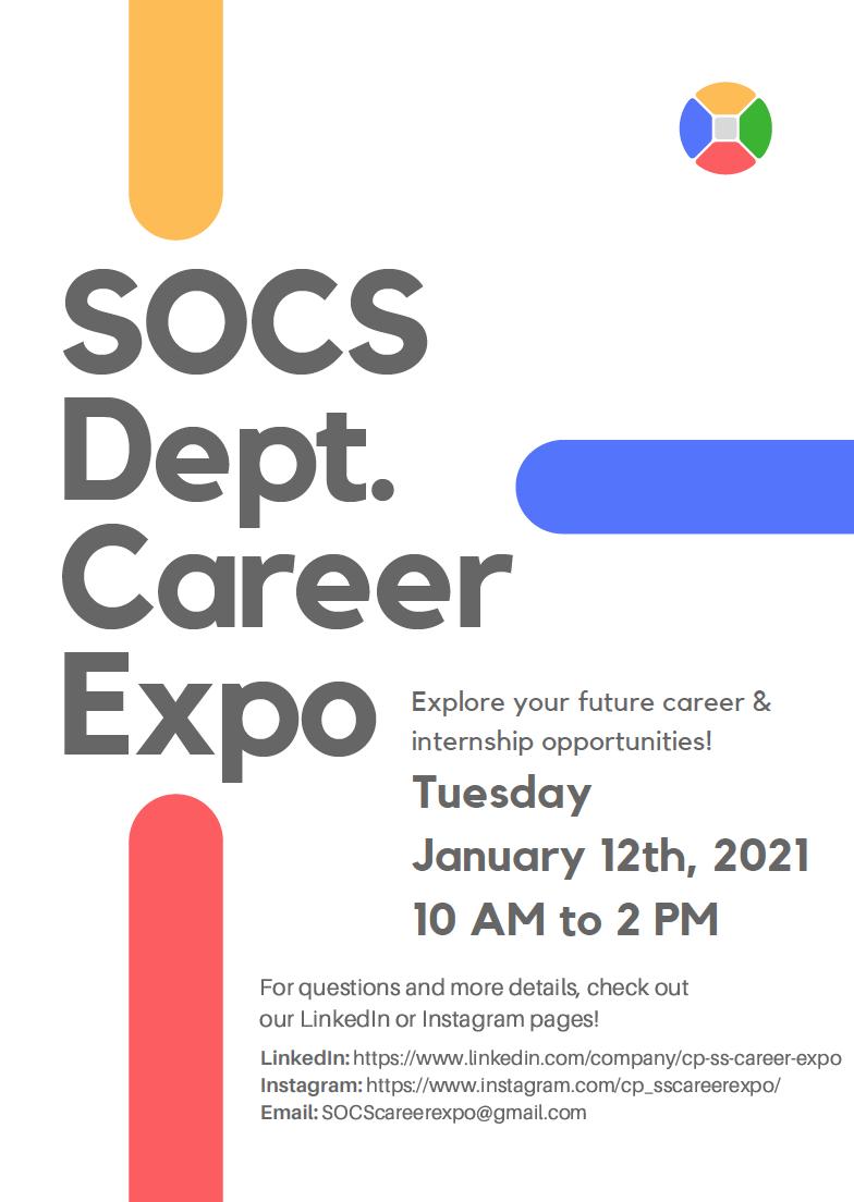 SOCS Career Exploration Day Flyer