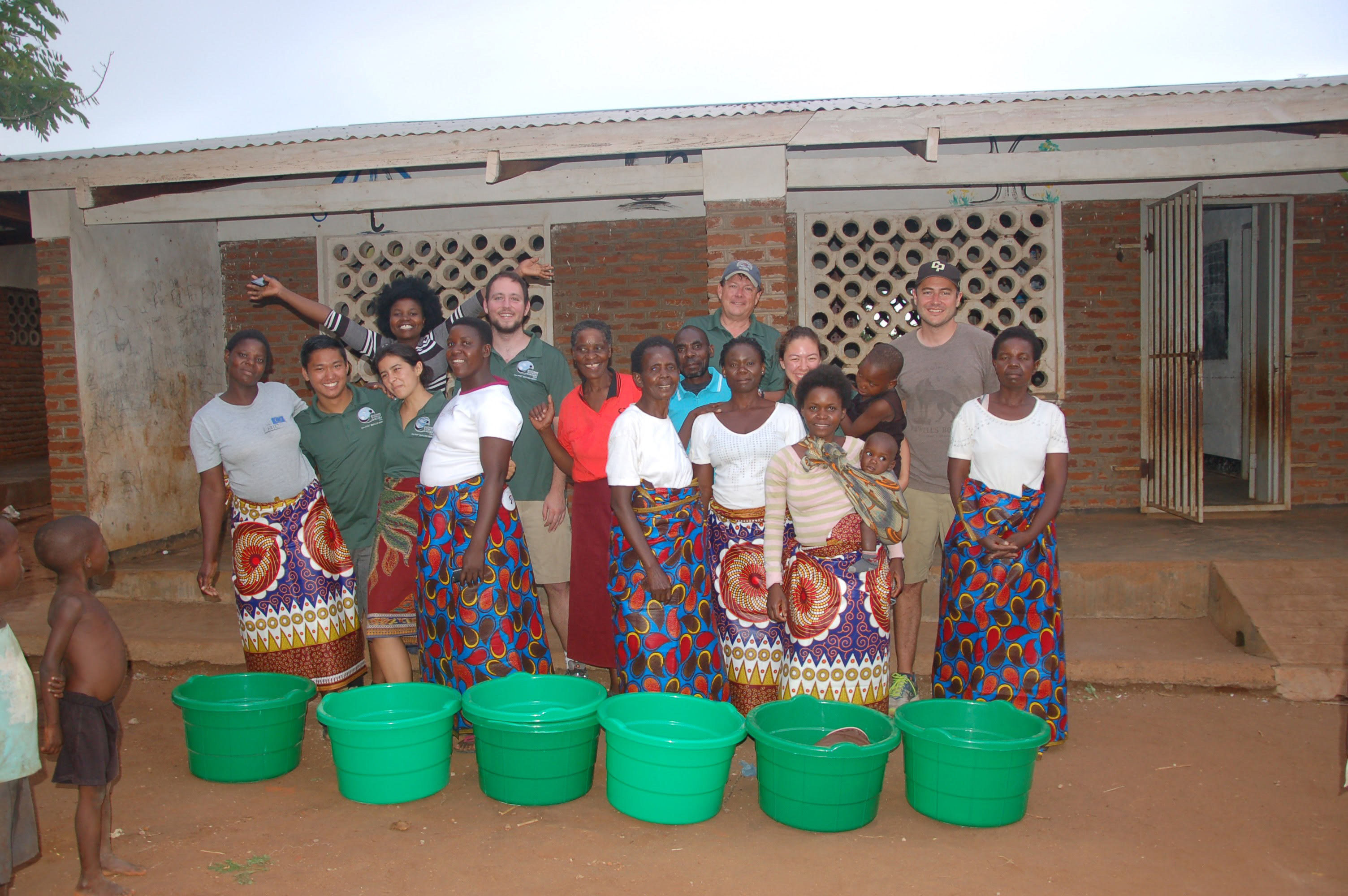 Brian Pompeii with students in Malawi