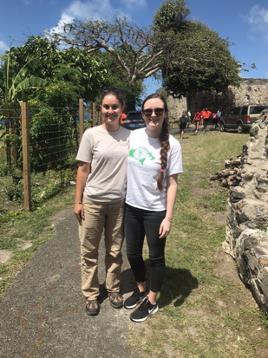 Allissia Isolani and Jackie Grealish, both alumni working in the Virgin Islands