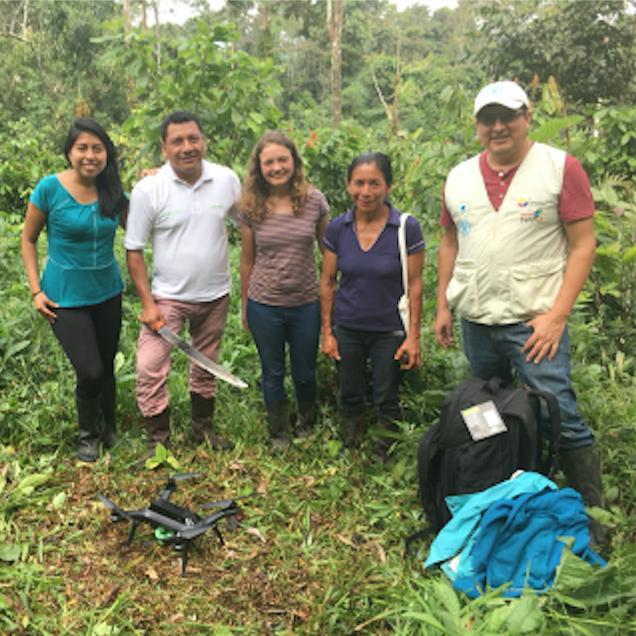 alumni Kaitlyn Johnke working in Ecuador