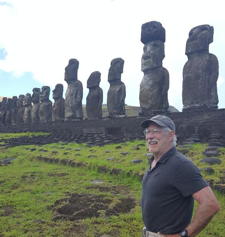 Dr. Terry Jones in Easter Island