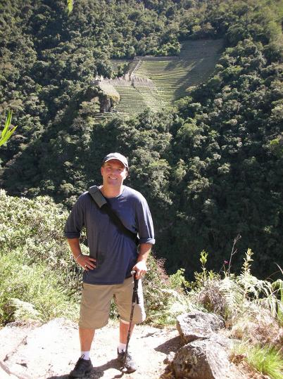 Dr. Timms on the trek to Machu Picchu, Peru.