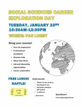 SOCS Department Career Fair / Exploration Day Flyer
